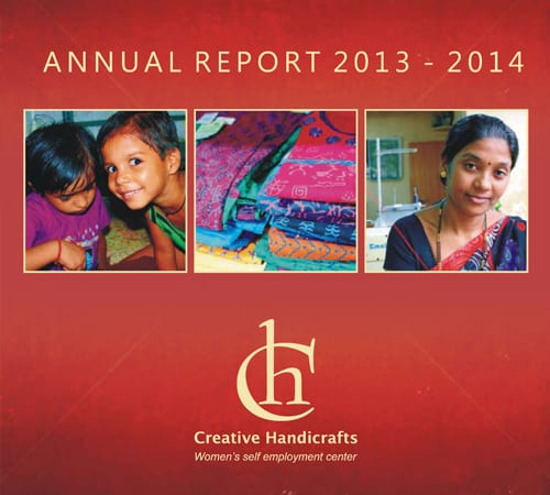 Creative Handicrafts Annual Report cover 2013-2014