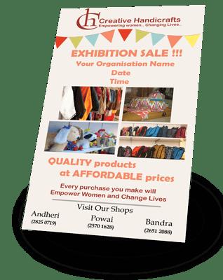 Sample Creative Handicrafts Pop-up shop flier