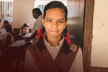 Girl sponsored by Creative Handicrafts