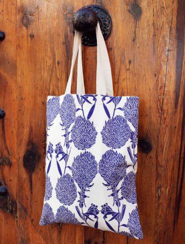 Creative Handicrafts blue flowers bag - CH-160105