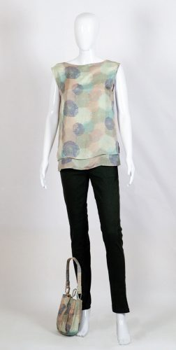 Creative Handicrafts Strati silk top and Sigaretta cotton pants