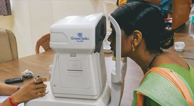 Creative Handicrafts eye checkup